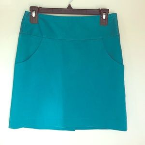 The Limited - Teal Mini Skirt